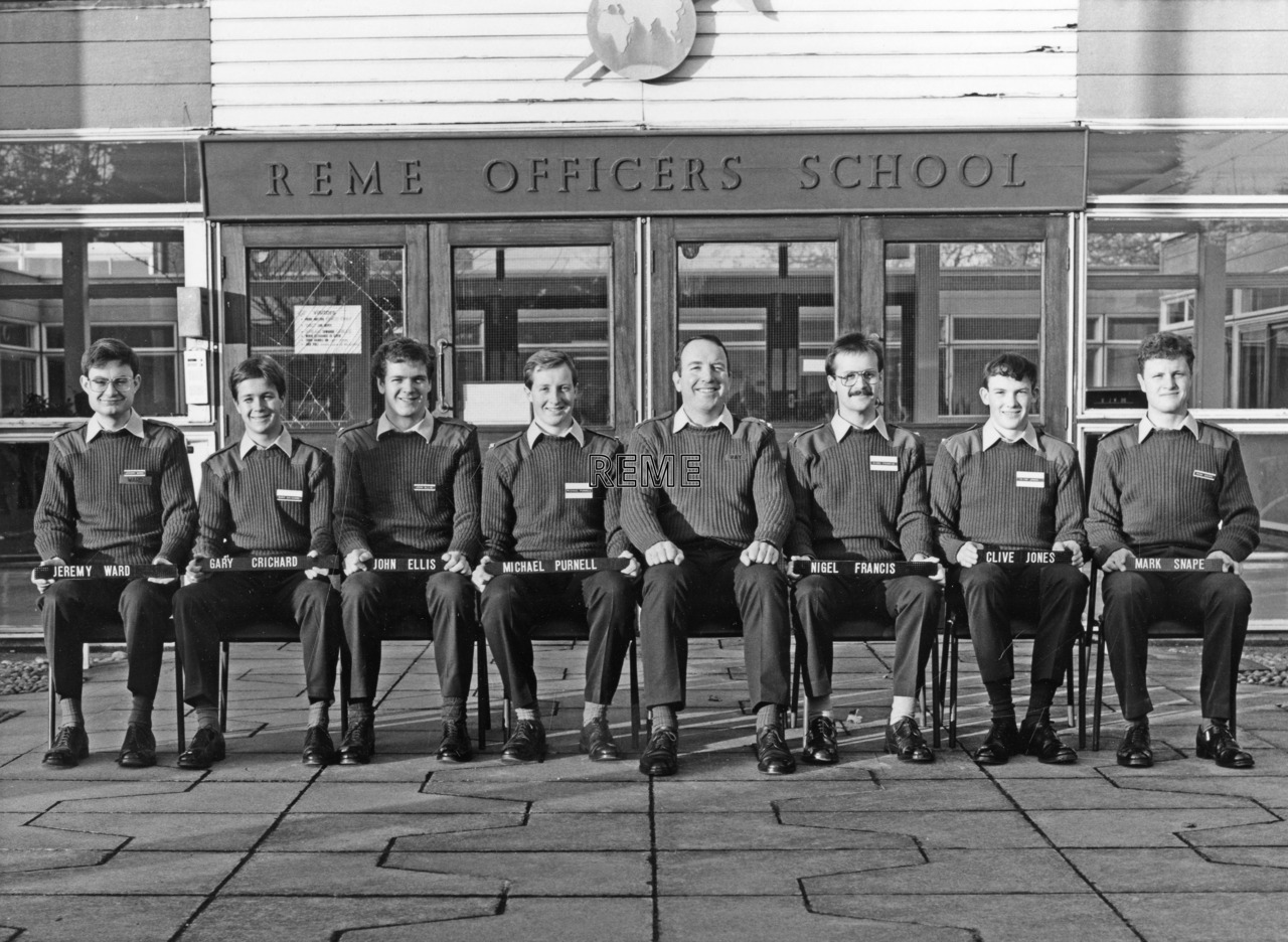 No 89 Regular Young Officers' Course, REME Officers' School, Arborfield.