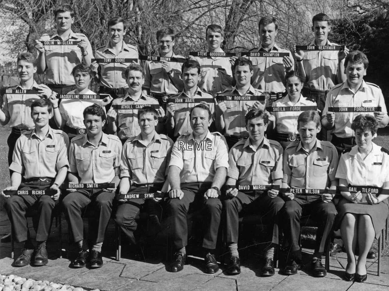 No 90 Regular Young Officers' Course, REME Officers' School, Arborfield.