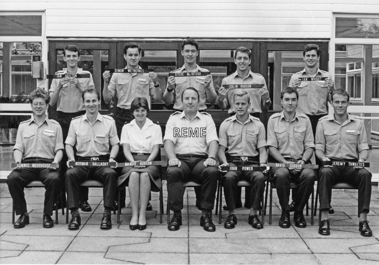 No 91 Regular Young Officers' Course, REME Officers' School, Arborfield.