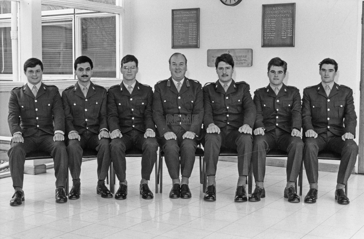 No 92 Regular Young Officers' Course, REME Officers' School, Arborfield.