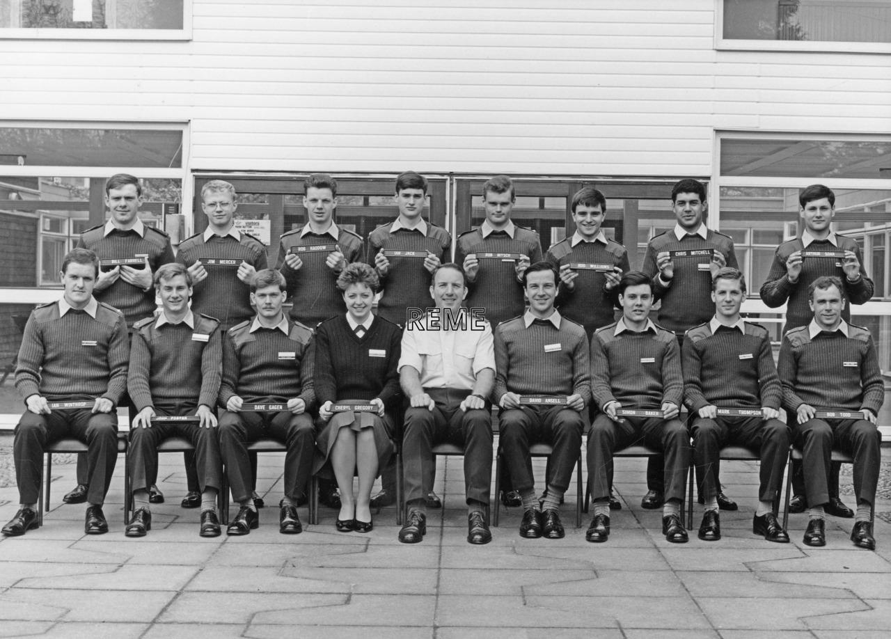No 93 Regular Young Officers' Course, REME Officers' School, Arborfield.