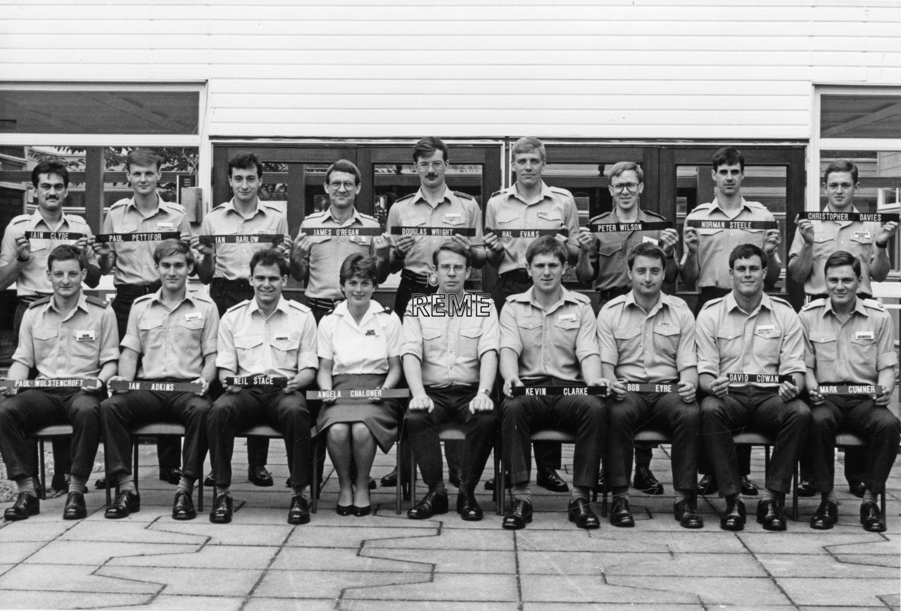 No 94 Regular Young Officers' Course, REME Officers' School, Arborfield.