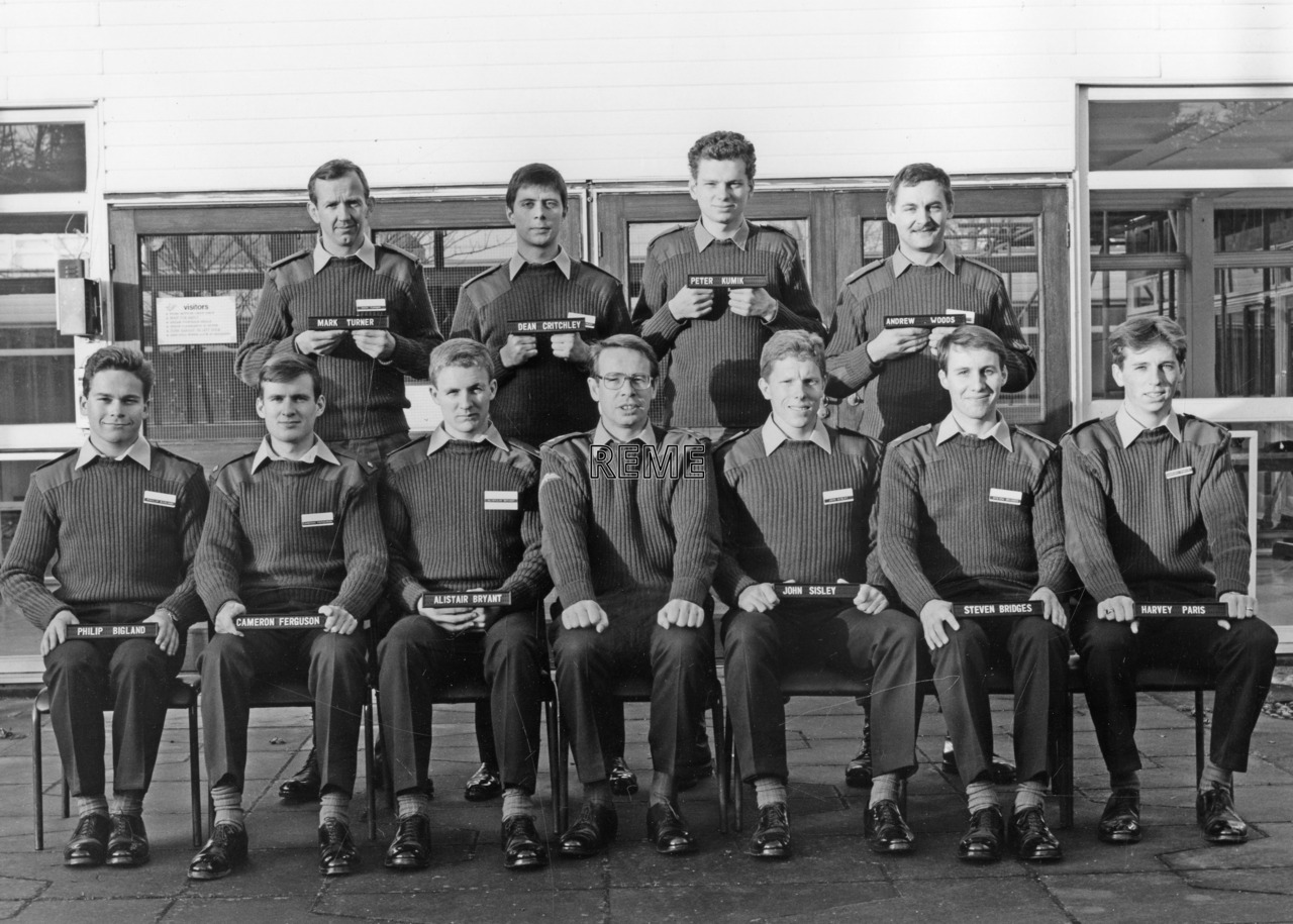No 95 Regular Young Officers' Course, REME Officers School, Arborfield.