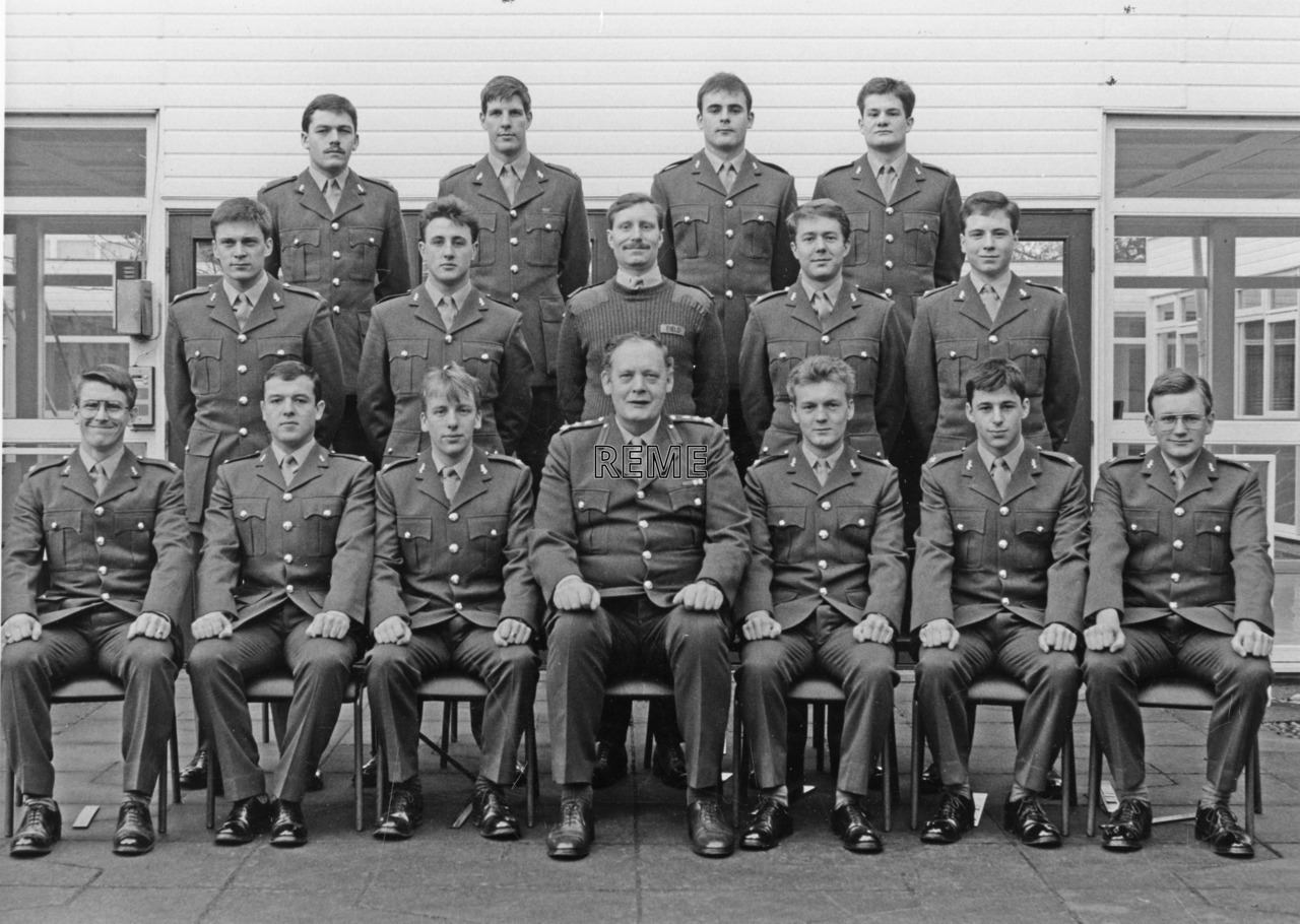 No 98 Regular Young Officers' Course, REME Officers' School, Arborfield, 4 to 20 January 1989.