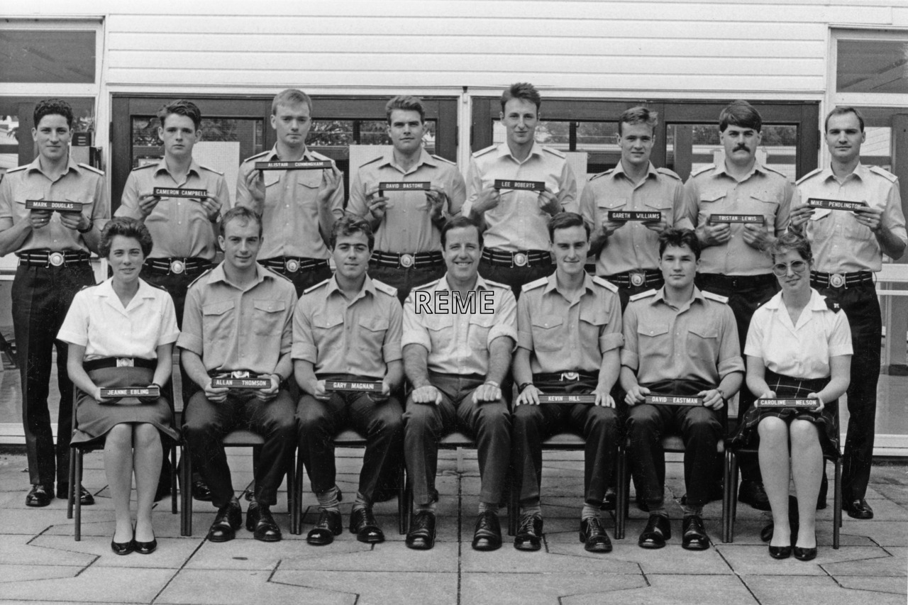 No 100 Regular Young Officers' Course, REME Officers' School, Arborfield.